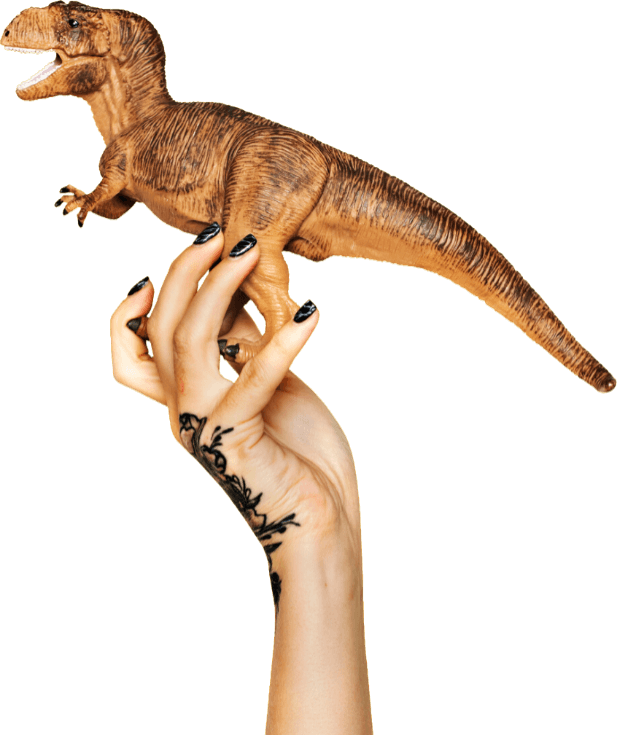 Arm and dinosaur animation home page image